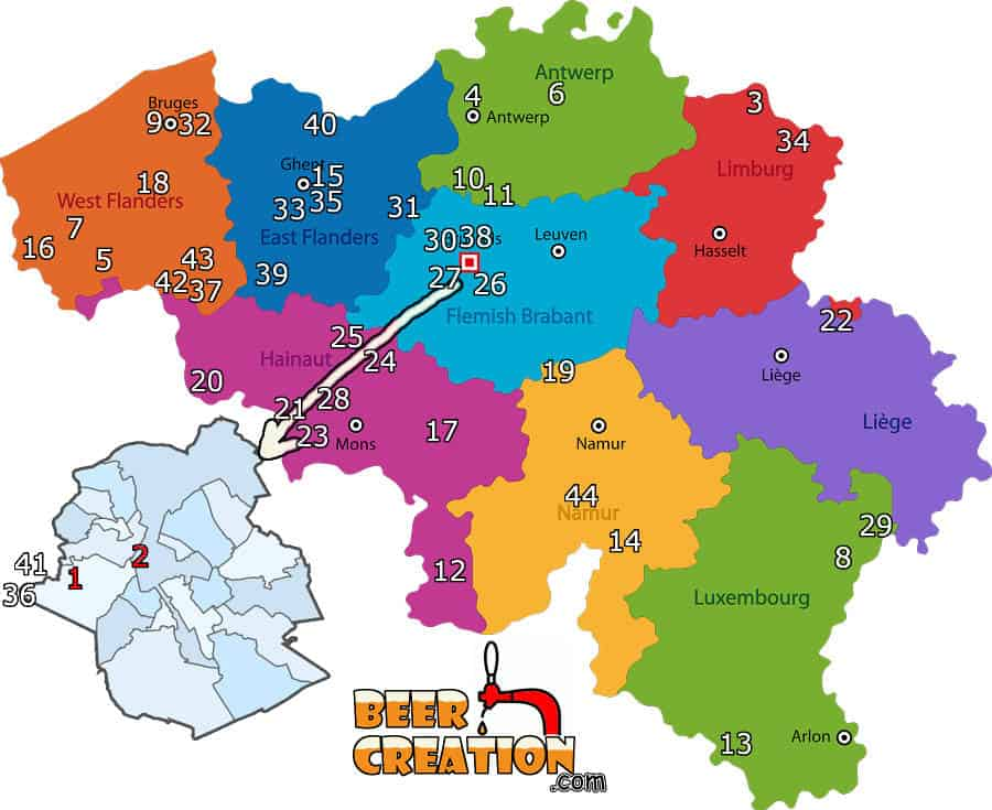 The best Belgian breweries - 44 of the best breweries in Belgium - Beercreation.com