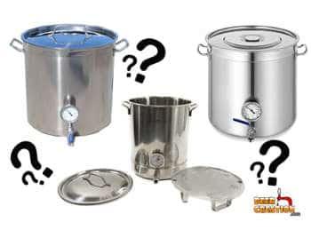 Choosing brewing pot size beer creation